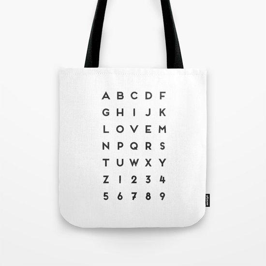 Letter Love - White Tote Bag