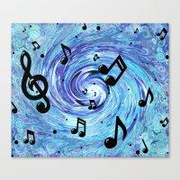Musical Blue Canvas Print