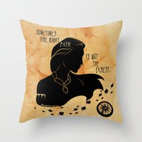 The Right Path Throw Pillow