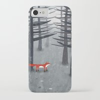 forest iPhone & iPod Cases featuring The Fox and the Forest by Nic Squirrell