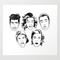 One Direction (in black and white) Art Print