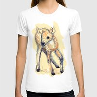 Wobbly Deer Womens Fitted Tee White SMALL