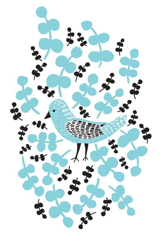 Birdie Bird Blue Art Print