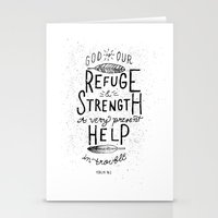 14/52: Psalm 46:1  Stationery Cards