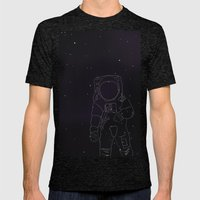 Spaceman Mens Fitted Tee Tri-Black SMALL