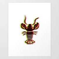Lobster Confusion Art Print