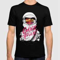 Give a Fuck Mens Fitted Tee Black SMALL