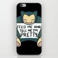 Feed Me Snrlx iPhone & iPod Skin