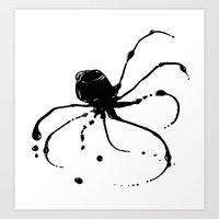 Octopus Ink Art Print