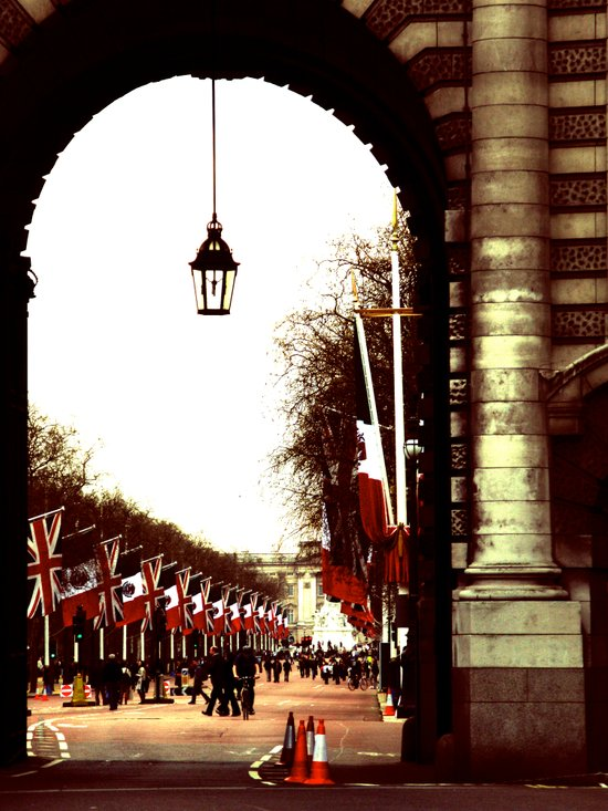 London - Flags Art Print