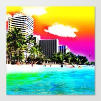 Waikiki Beach Part II Canvas Print