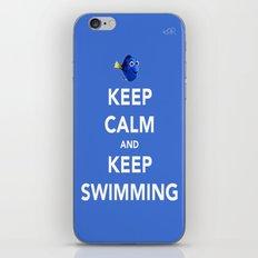 Keep Calm And Keep Swimming iPhone & iPod Skin