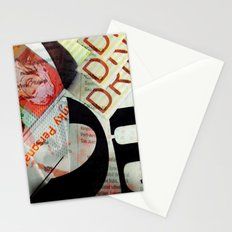 Abstract Newspaper Stationery Cards
