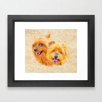 Yorkie Best Buddies Framed Art Print