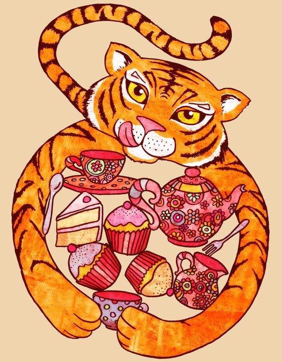 Tiger's Tea Art Print