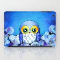 Lunar Owl in Dandelion Field iPad Case