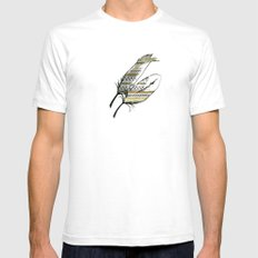 Tribal Gold White Mens Fitted Tee SMALL