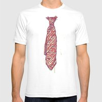 It's Bacon Tie! Mens Fitted Tee White SMALL