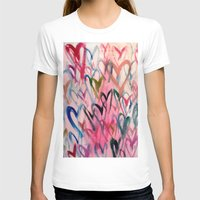 My Love Heart Womens Fitted Tee White SMALL