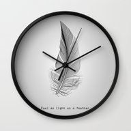 Wall Clock featuring Feel As Light As A Feath… by EARTh