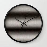 Stripes. Wall Clock