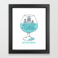 Amsterdam in a glass Framed Art Print