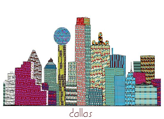 Dallas city  Art Print
