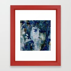 Tangled up in Blue ..Bob Dylan Framed Art Print
