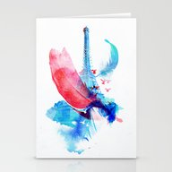 Pigeons Of Paris Stationery Cards