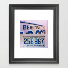 British Columbia Framed Art Print