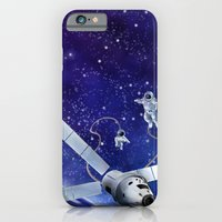 iPhone & iPod Case featuring Spacewalk by Elena Gianniki