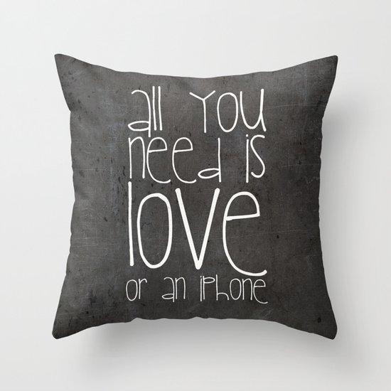iPhone Throw Pillow