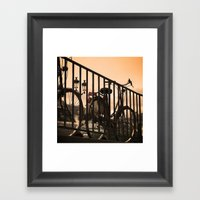 Bike in Paris Framed Art Print