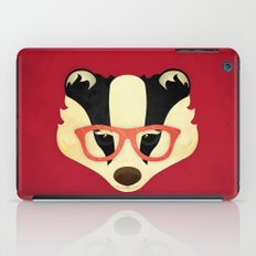 Hipster Badger: Red iPad Case