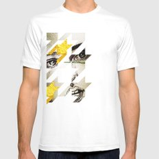 Maze Hound White Mens Fitted Tee SMALL