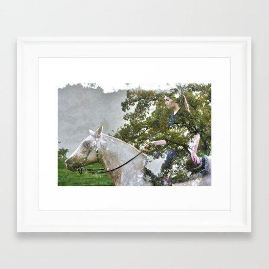 A Spark in the Trees Framed Art Print