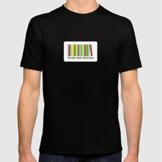 Reading is good SMALL Mens Fitted Tee Black