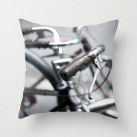 bikes 01 Throw Pillow