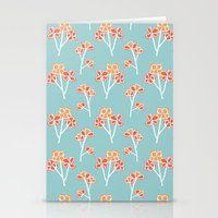 anemone flowers :: sea mist Stationery Cards