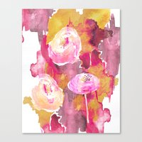 Painterly Flowers Canvas Print