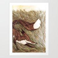 La Ruse du renard (The Sneaky Red Fox) Art Print