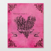 Lovely Pink Heart Canvas Print