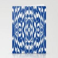Ikat: Nautical Blue  Stationery Cards