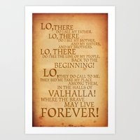 Viking Prayer Art Print