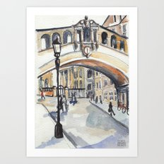 Oxford: Bridge of Sighs Art Print