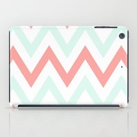 Mint & Coral Chevron iPad Case