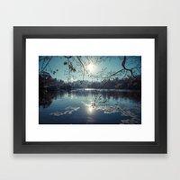 India - Blue Lake Framed Art Print