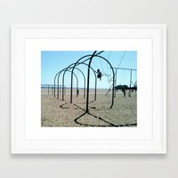 Santa Monica Rings Framed Art Print