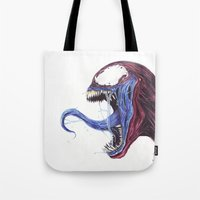Venom Turned Spider Man Tote Bag