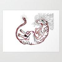 The Tasmanian Tiger Art Print
